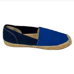 ELLEN TRACY blue espadrille women's shoes 9M
